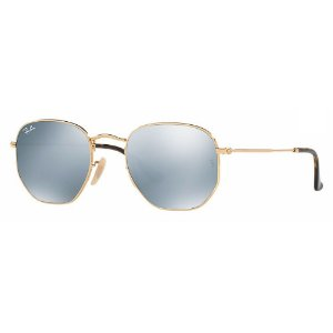 RAY-BAN HEXAGONAL  FLAT LENSES PRATA BRILHANTE RB3548