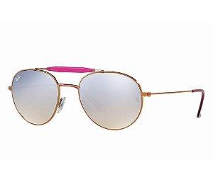 Ray- Ban 0RB3540 - Lente Cinza -  Armação Bronze com rosa