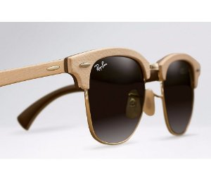Ray Ban Clubmaster Wood - Lente Marrom - RB3016M 1179 51-21