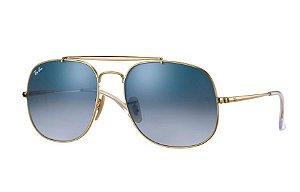Ray Ban General - Armação Dourada - Lente Azul - RB3561 001/3F 57-17