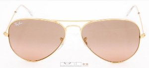 RAY-BAN AVIADOR ESPELHADA MARRON ROSA RB 3025 e RB3026