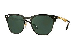 Ray Ban Blaze Clubmaster - Armação Dourado Lente Verde - RB3576N 043/71 01-47