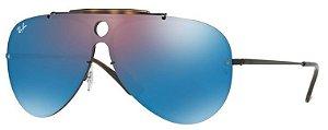 RAY BAN BLAZE SHOOTER - Lente Azul Espelhada Armação metal - RB 3581N 153/7V
