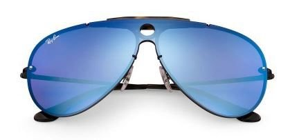 RAY BAN BLAZE SHOOTER - Lente Azul Violeta Espelhado -  Armação Metal -  3581N 153 7V