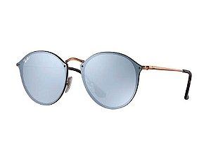 BLAZE ROUND RB3574N 90351U 59-14 Lentes: Violeta Espelhada Cor da armação: Bronze-Acobreado