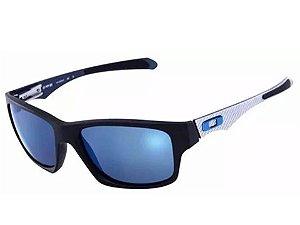 Oakley Jupiter Carbon 100% Polarizado Lente Azul Aço