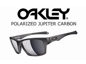 Oakley Jupiter Carbon 100% Polarizado Cor: Preto - Cinza Claro