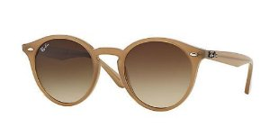 RAY-BAN HIGHSTREET MARRON CLARO- RB2180 - LENTES:  Marrom Degradê