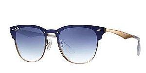RAY BAN CLUBMASTER BLAZE - LENTES:  Azul Espelhada degradê - RB3576N