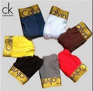 Cueca CK trunk boxer Gold Premium kit 08 pçs