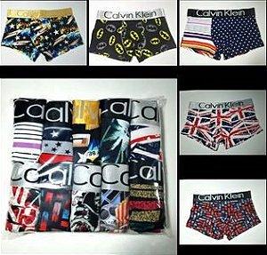 cuecas Calvin Klein estampadas kit 08 pçs
