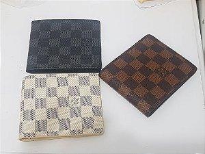 Carteira em couro Louis Vuitton duas divisões
