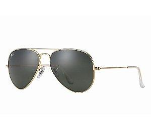 Óculos de Sol Ray-Ban Aviator RB 3025 Espelhada Marrom Rosa e ... 04aa57d715