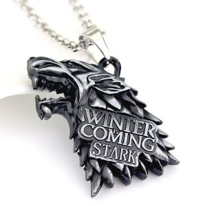 Colar Casa Stark Game of Thrones/ Guerra dos Tronos