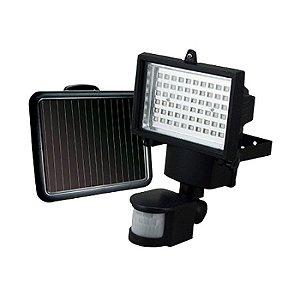 Refletor Solar 60 LEDs com Sensor