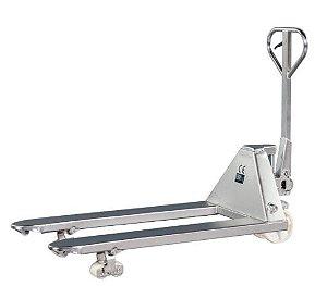 Paleteira Manual 100% Aço Inox - 2.5T - Rodado Duplo - NY