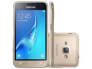 Smartphone Samsung Galaxy J3 2016 Dourado com 2 Chips Tela 5.0