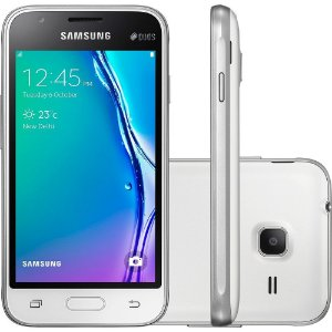 Smartphone Samsung Galaxy J1 Mini Duos, Quad Core 1.2 Ghz, Android 5.1, Tela 4´, 8GB, 5 MP, 3G, Desbloqueado - Branco