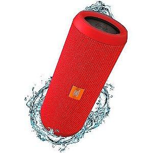 Caixa de Som Bluetooth JBL FLIP3 Vermelha 16W RMS Bluetooth/Entrada P2 Amplificada 2X8W