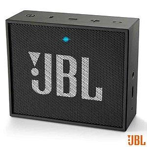 Caixa De Som Bluetooth JBL Go Preta 5h De Bateria