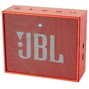 Caixa De Som Bluetooth JBL Go Laranja 5h De Bateria