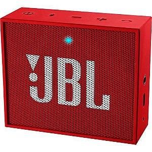 Caixa De Som Bluetooth JBL Go Vermelha 5h De Bateria