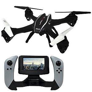 Drone Udirc Lark FPV U842-1 Quadrotor 6 Eixos Giroscópio Câmera HD - Preto