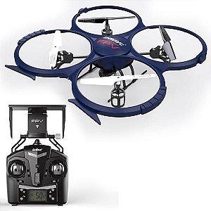Drone Udirc Discovery-wifi U818A WIFI 360° (1280 x 720p) - Azul