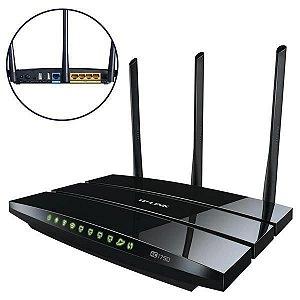 Roteador TP-Link Archer C7 AC1750 Wireless Velocidade até 1300Mbps em 5GHz - Preto.