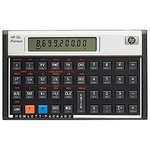 Calculadora HP -12C Platinum Inglês Visor LCD/ 130 Funções - Preto/Prata