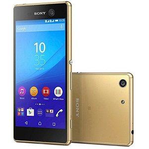 """Smartphone Sony Xperia M5 16GB LTE Dual Sim Tela 5.0"""" Câm.21.5MP+13MP-Dourado"""
