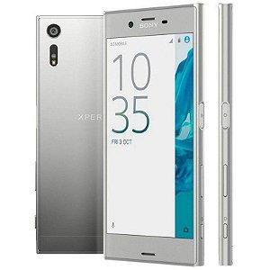 "Smartphone Sony Xperia XZ F8331 3GB/32GB LTE 1Sim Tela 5.2""FHD Câm.23MP+13MP-Prata"