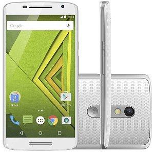 """Smartphone Motorola Moto X Play XT1563 16GB LTE Dual Sim Tela 5.5"""" Câm.21MP+5MP-Branco"""