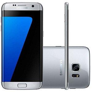 "Smartphone Samsung Galaxy S7 Edge 32GB LTE 1Sim Tela 5.5"" QHD Câm.12MP+5MP-Prata"