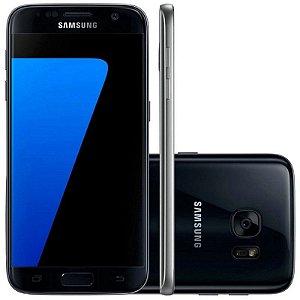 "Smartphone Samsung Galaxy S7 SM-G930F 32GB LTE 1Sim Tela 5.1"" QHD Câm.12MP+5MP-Preto"