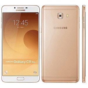 "Smartphone Samsung Galaxy C9 Pro SM-C9000 64GB LTE Dual Sim Tela 6.0"" Câm.16MP+16MP-Branco"