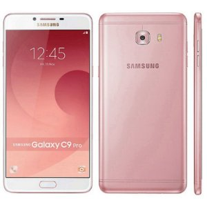"Smartphone Samsung Galaxy C9 Pro SM-C9000 64GB LTE Dual Sim Tela 6.0""FHD Câm.16MP+16MP-Rosa"