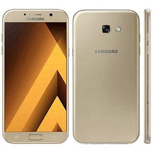 "Smartphone Samsung Galaxy A7 SM-A720F 32GB LTE 1Sim Tela 5.7""FHD Câm.16MP+16MP-Dourado"