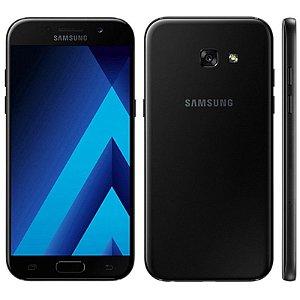 "Smartphone Samsung Galaxy A7 SM-A720F 32GB LTE 1Sim Tela 5.7""FHD Câm.16MP+16MP-Preto"