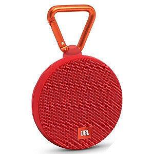 Speaker JBL Clip 2 com Bluetooth v.4.2 e Conector 3.5mm - Vermelho