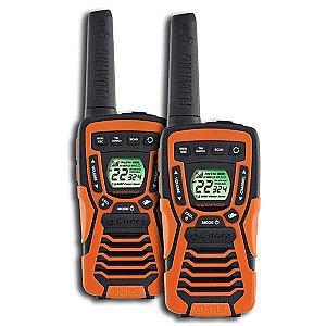 Walkie Talkie Cobra CXT-1035R p/ Até 37 Milhas com Proteção IPX7 - Laranja/Preto