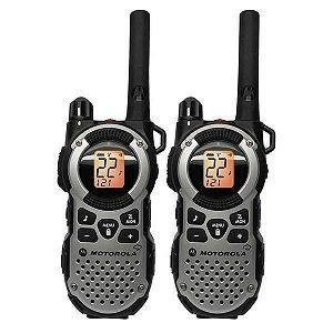 Walkie Talkie Motorola MT-352MR p/ Até 35 Milhas - Preto/Cinza