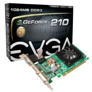 Placa de Vídeo EVGA GeForce GT 210 1GB 01G-P3-1312-LR