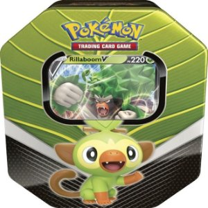 Lata Pokémon Rillaboom V Parceiros de Galar