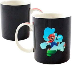 Caneca Mágica Cerâmica 300ml Mario Bros Fase - Zona Criativa
