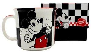 Caneca Disney Mickey Mouse Xadrez 350 Ml