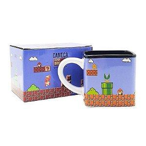 Caneca de Porcelana Chá Quadrada Mario 300ml