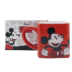 Caneca Cubo Quadrada 300ML Mickey e Minnie Disney