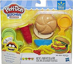 Massa de Modelar - Play-Doh - Conjunto Hamburger Divertido - Hasbro