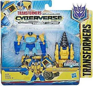 Transformers Cyberverse Sky-byte Spark Armor Hasbro